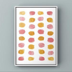 Modern minimalist watercolor pink tan art print